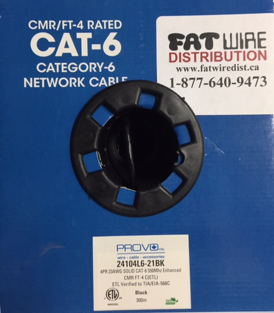 photo of Cat6 Provo FT-4 Cable Black