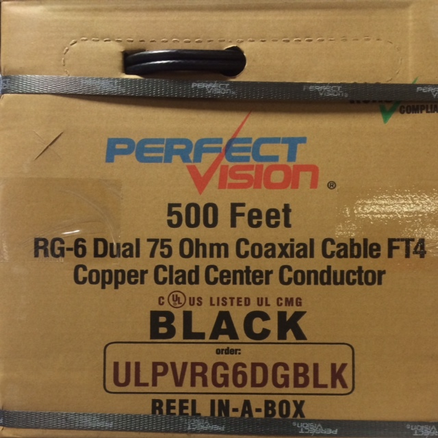 photo of RG6 Coaxial Cable Black Dual