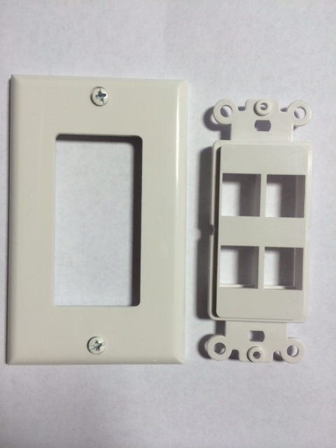 photo of Decora Wall Plate 4 Port