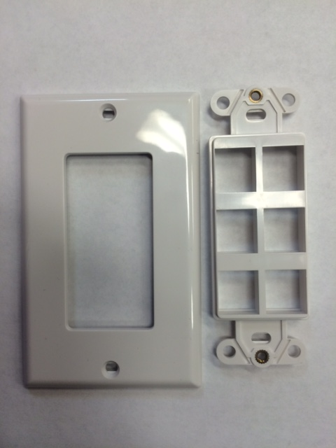 photo of Decora Wall Plate 6 Port