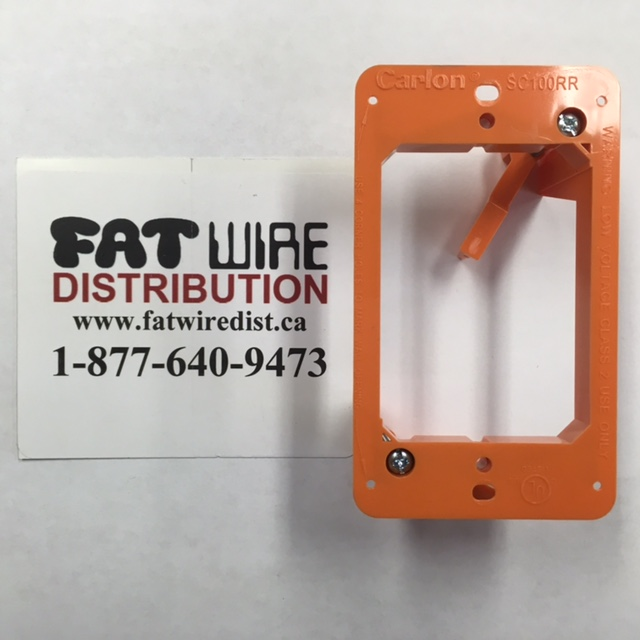 photo of Low Voltage Bracket Single Gang Orange, LV SC100RR