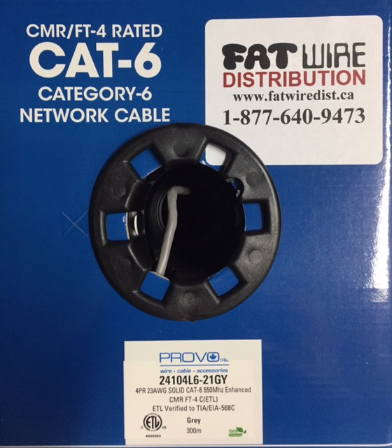 photo of Cat6 Provo FT-4 Spline Cable Grey