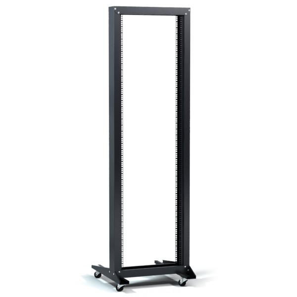 photo of Open Frame 2 Post Rack With Casters