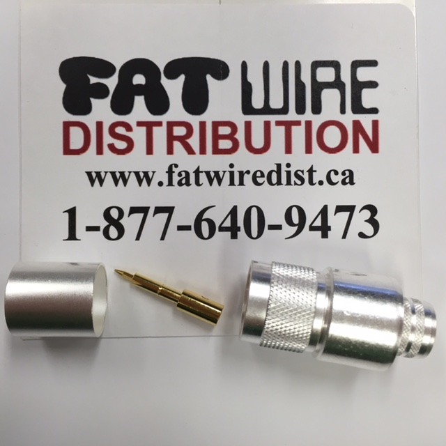 photo of N Male Crimp Connector LMR600, Silver