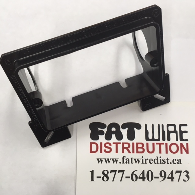 photo of Low Voltage Bracket Single Gang Black