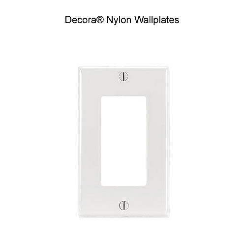 photo of Decora Wall Plate Single Gang