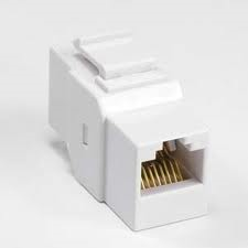 photo of Cat6 Keystone Jack Coupler White