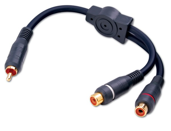 photo of RCA Patch Cable Y-Adapter 1M to 2F 6