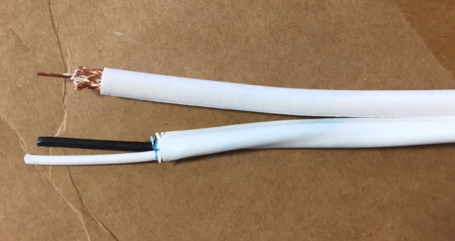 photo of RG59 FT4 Siamese 18/2 Cable White
