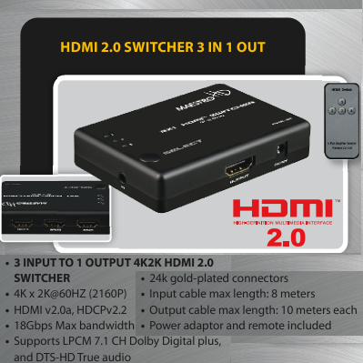 photo of HDMI 3x1 Switch Maestro