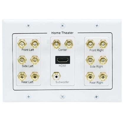 photo of Audio Wall Plate 7.1  3-Gang