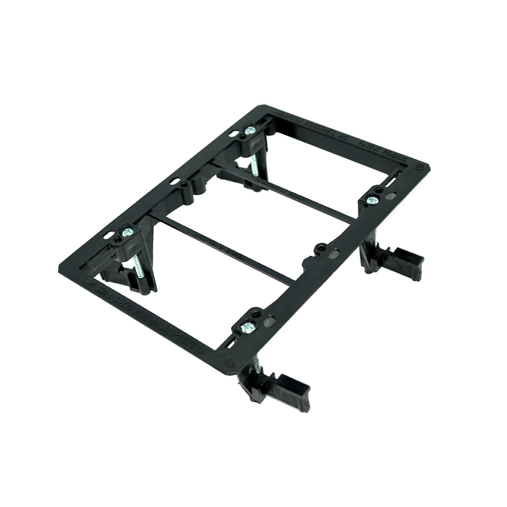 photo of Low Voltage Bracket Triple Gang Black