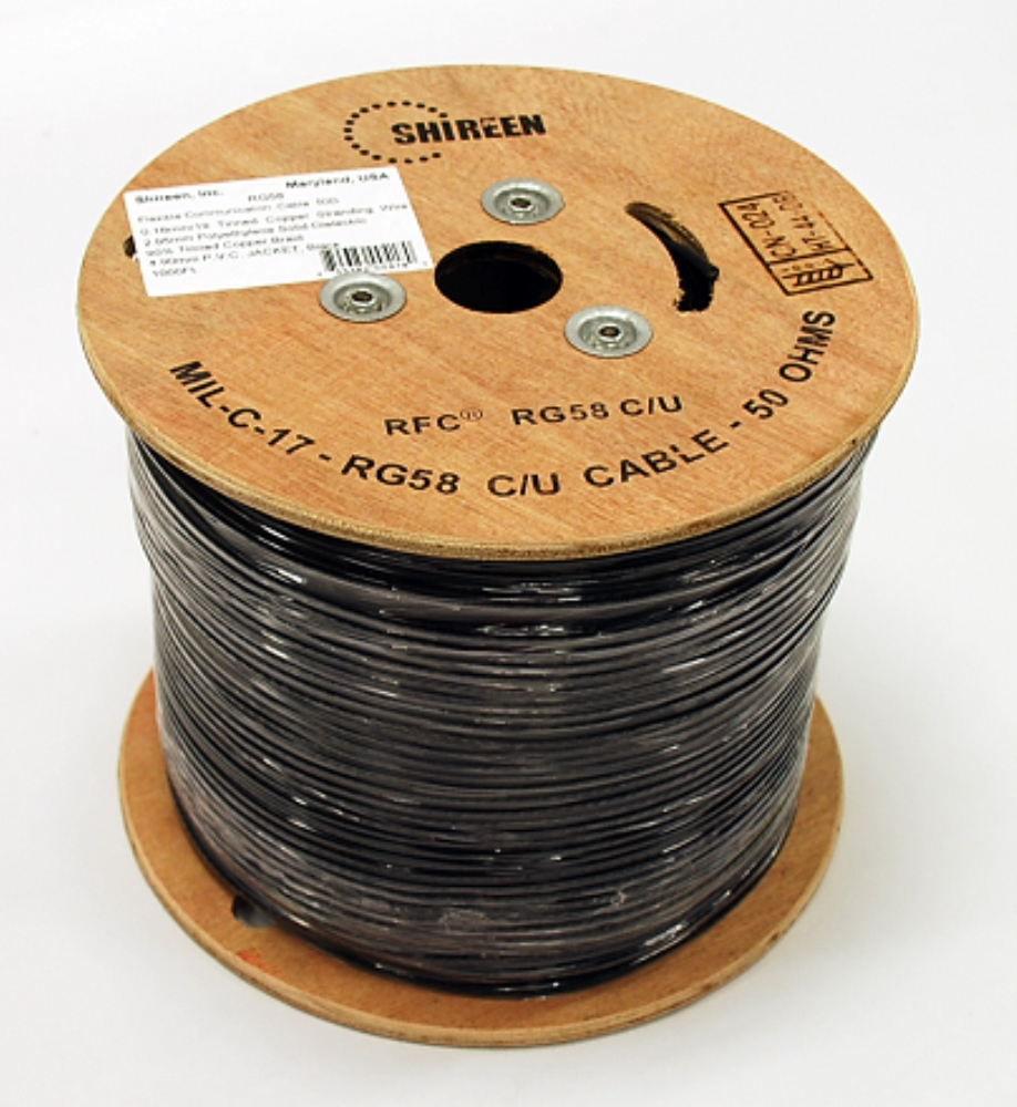 photo of RG58C/U 1000ft Spool