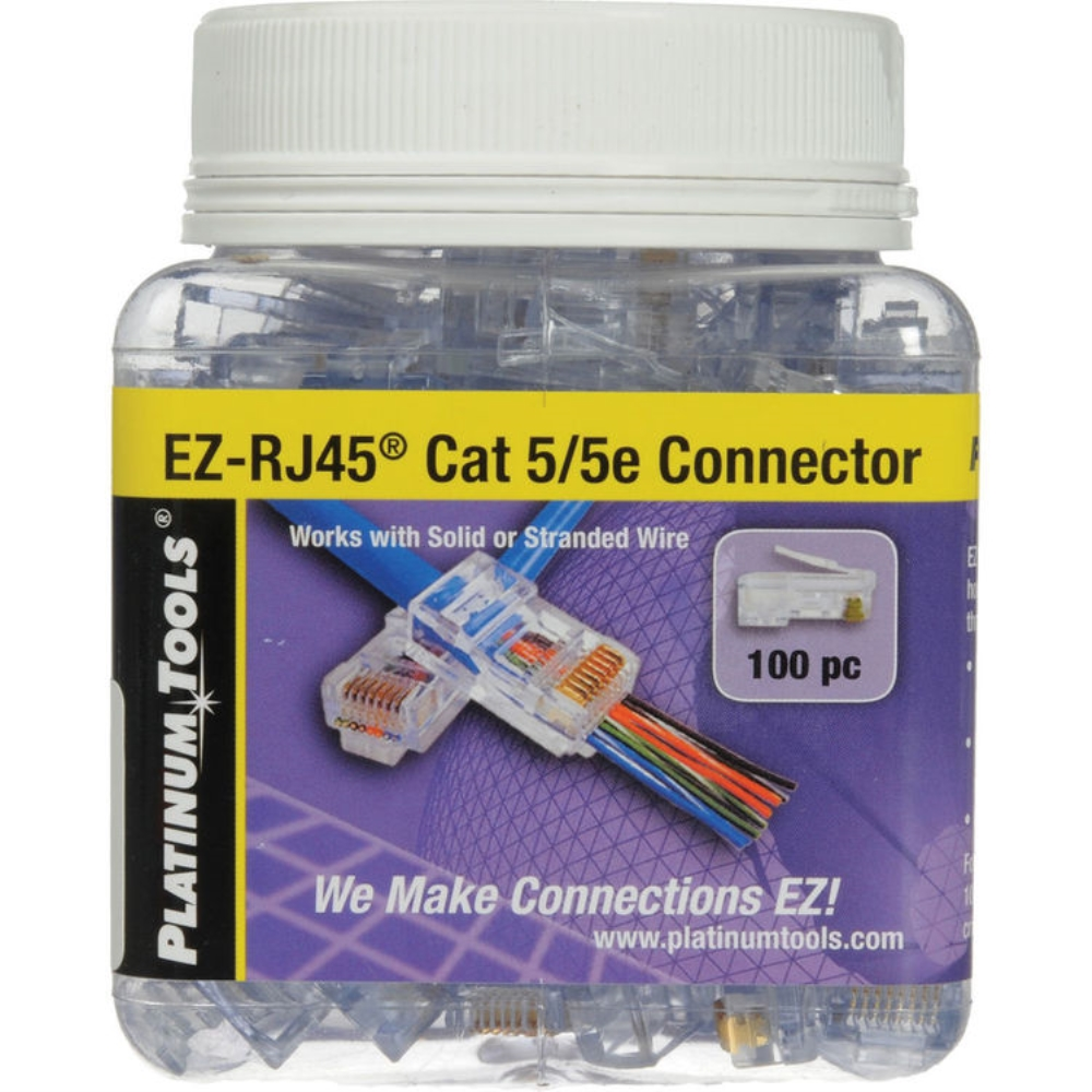 photo of EZ-RJ45 CAT 5/5e CONNECTOR, JAR OF 100