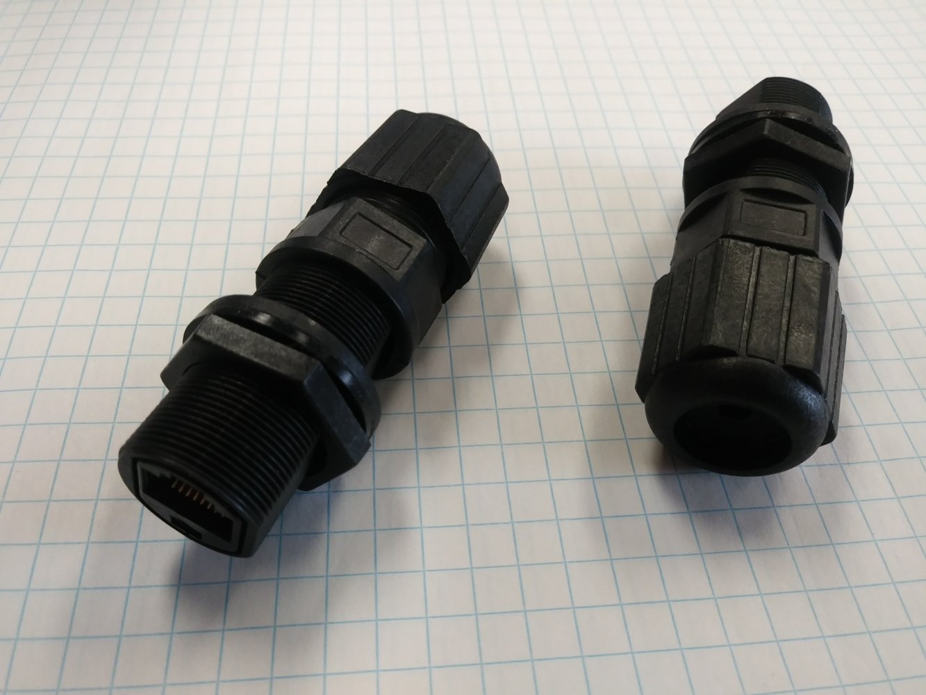 photo of  BULKHEAD MOUNTED WATERPROOF COUPLER FOR RJ45, M5K2