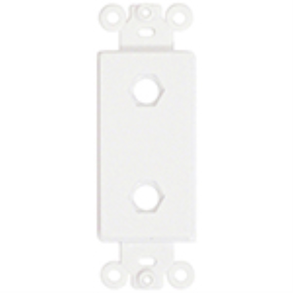 photo of Provocative  Plastic Insert, Two Hole for Decora Style Plates, White