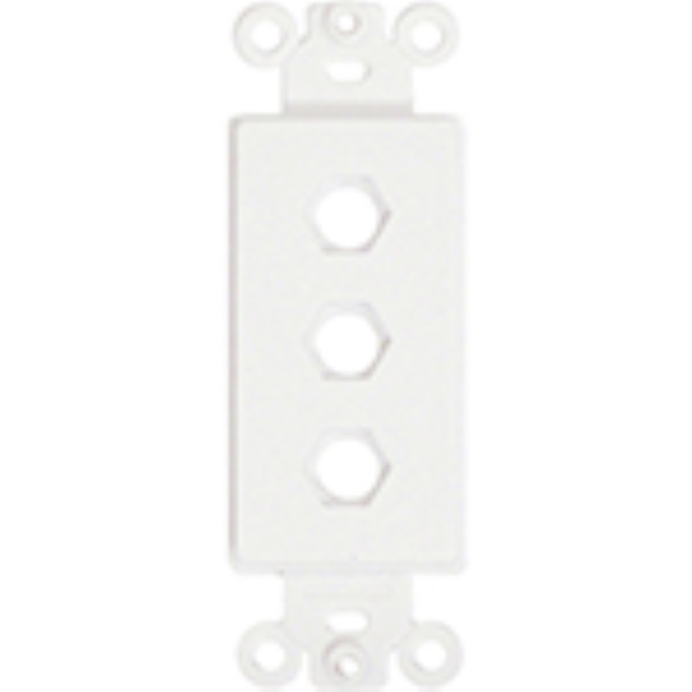 photo of Provocative  Plastic Insert, Three Hole for Decora Style Plates, White