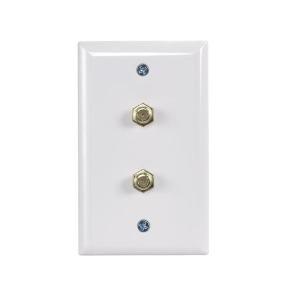 photo of WALL PLATE WITH 2 x F81, WHITE, PERFECT VISION  WPDNPWSC-05