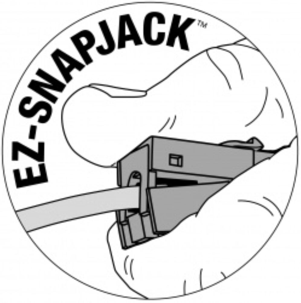 photo of EZ-SNAPJACK™ - CAT5E WHITE, PLATINUM TOOLS  705WH-1