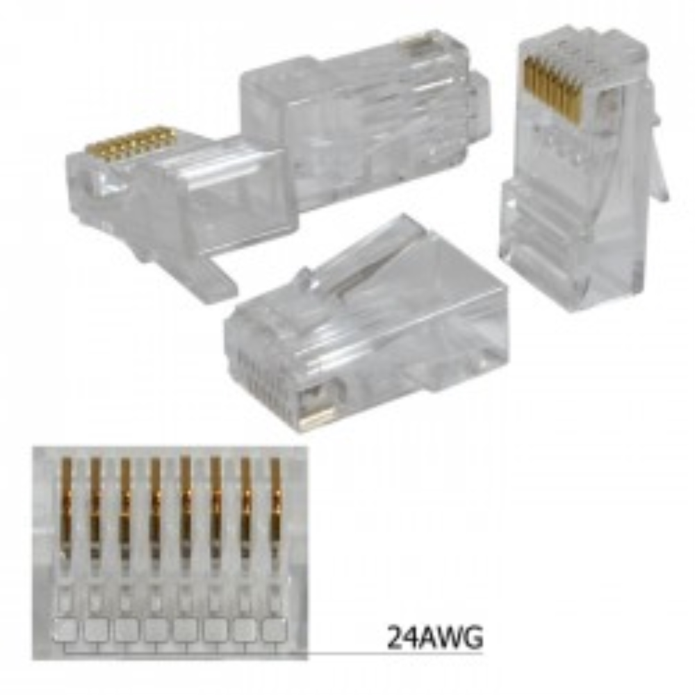 photo of CAT5E RJ45 MODULAR PLUGS, NOT PASS-THROUGH, BAG OF 100, LOGICO   RJ5U131 BAG OF 100