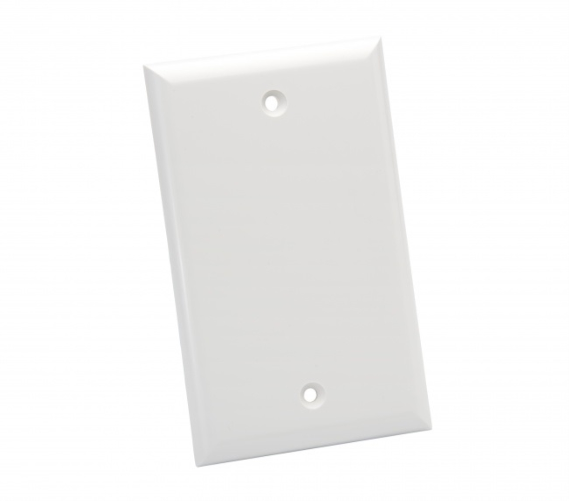 photo of SOLID BLANK WALL PLATES, WHITE PLATINUM TOOLS , 25 PC INSTALLER PACK   600WH-25