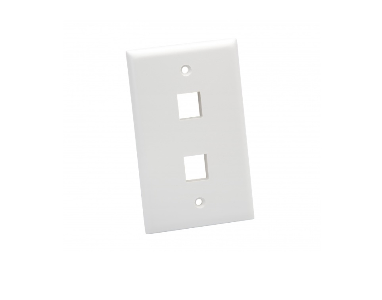 photo of 2 PORT SOLID WALL PLATES,  WHITE, PLATINUM TOOLS, 25 PC INSTALLER PACK   602WH-25
