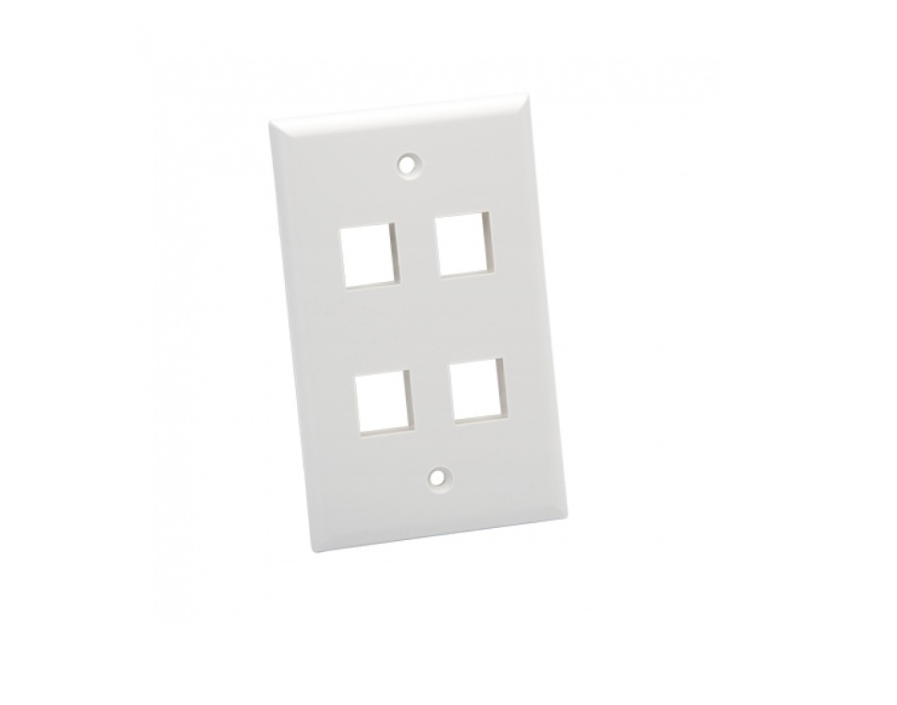 photo of 4 PORT SOLID WALL PLATES, WHITE, PLATINUM TOOLS, 25 PC INSTALLER PACK,  604WH-25