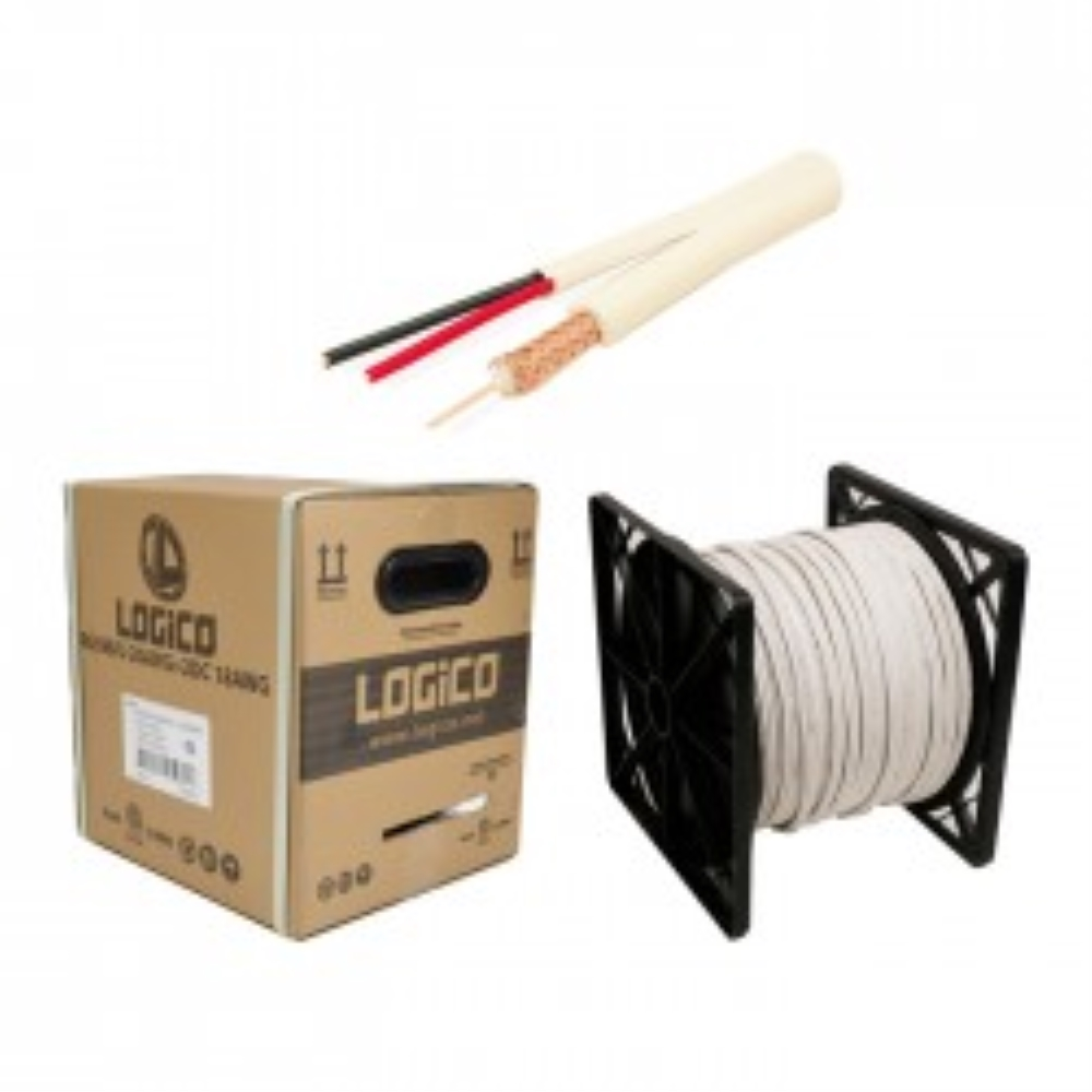 photo of SIAMESE RG59 WHITE 500 FT REEL IN BOX LOGICO, COX5103