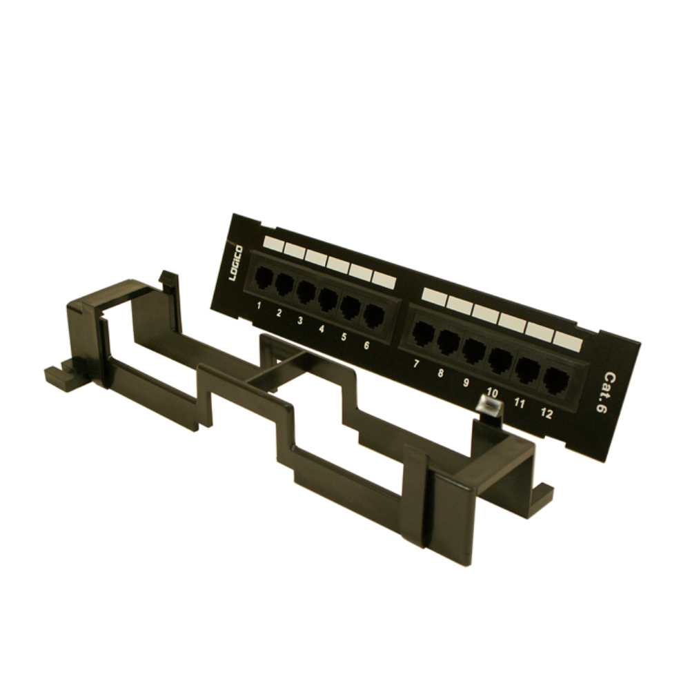 photo of CAT6 LOGICO 12 PORT WALL-MOUNTED PATCH PANEL,  PNL6EU12W