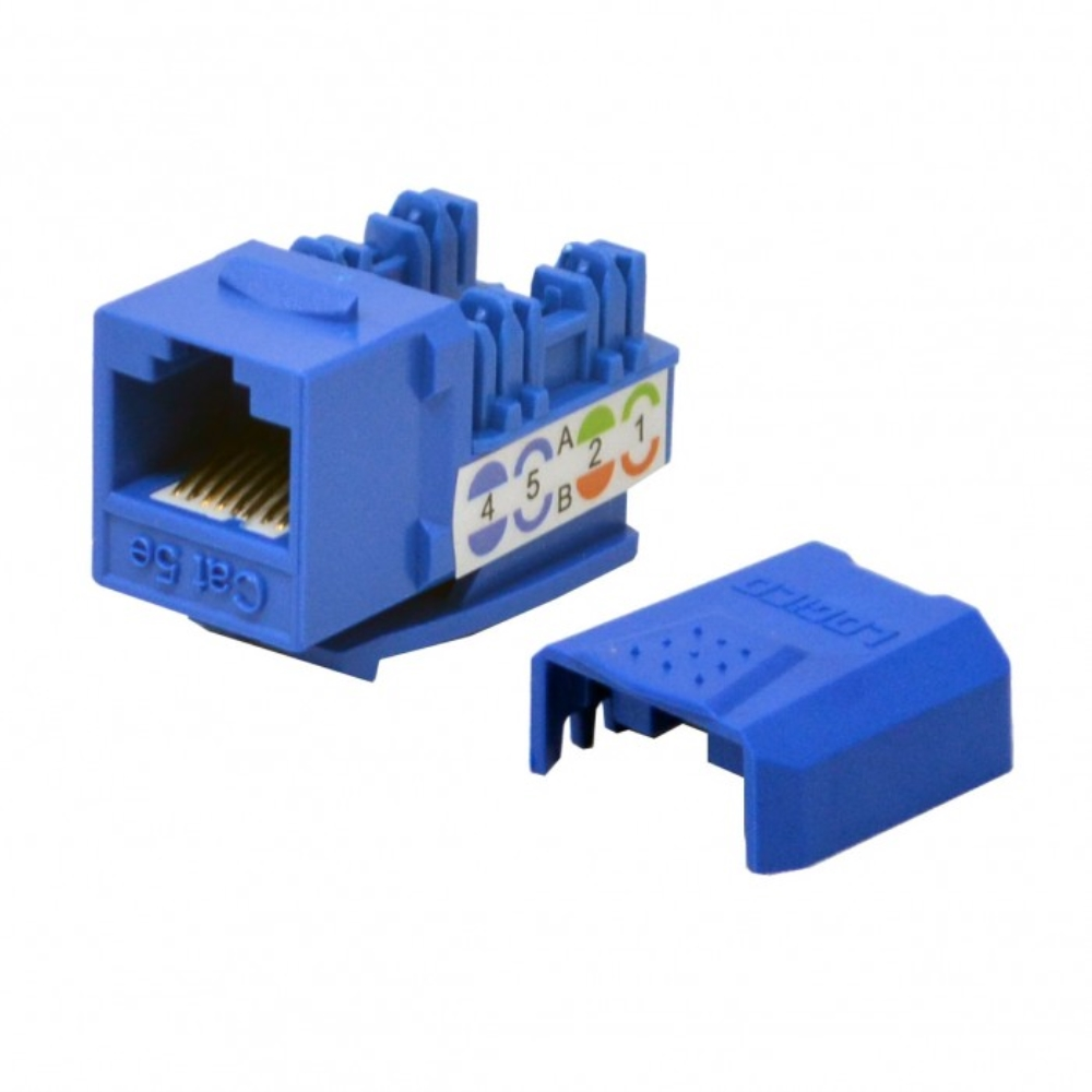 photo of CAT5E KEYSTONE JACK, BLUE, LOGICO  KI KJ5213