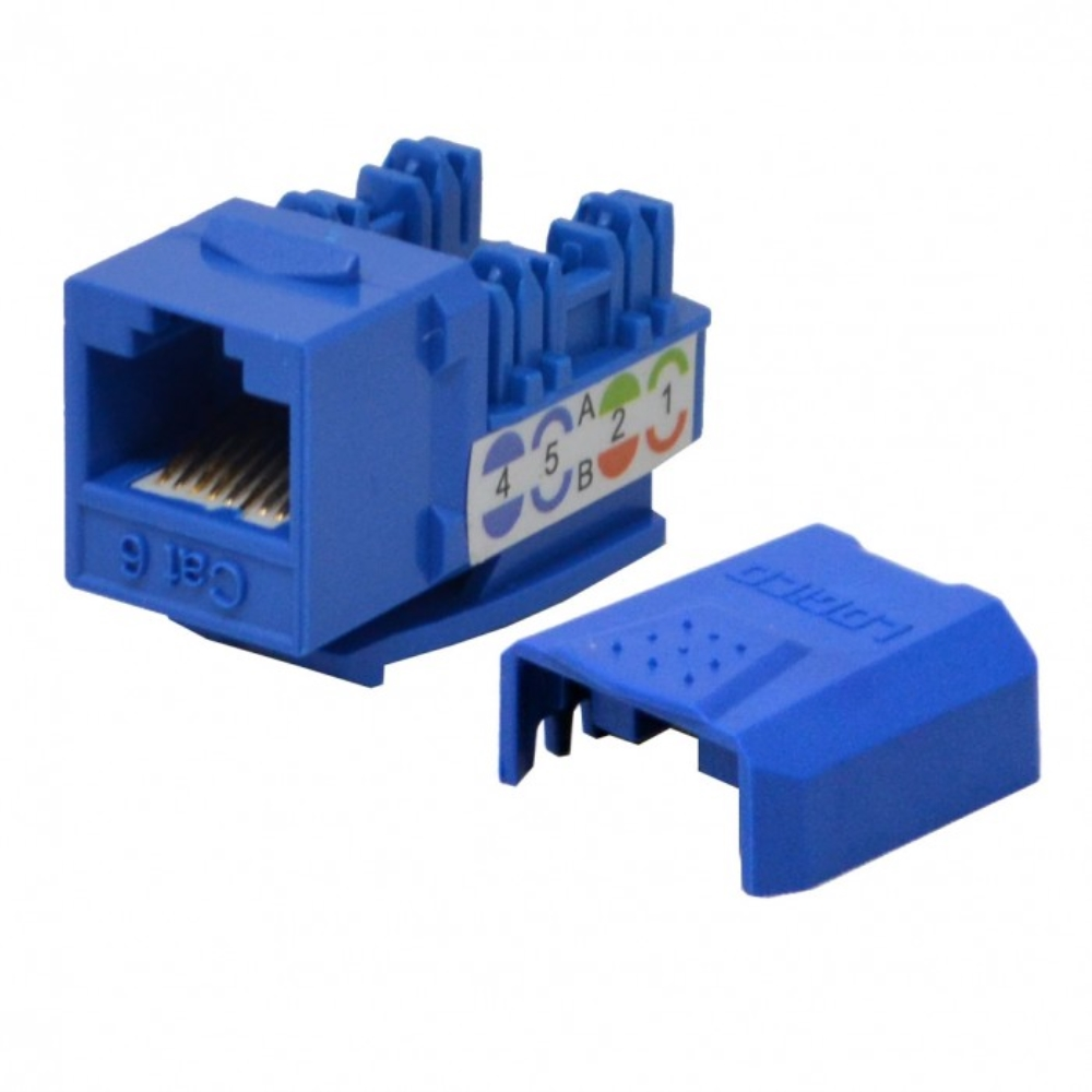 photo of CAT6 KEYSTONE JACK, LOGICO, BLUE  KJ6223