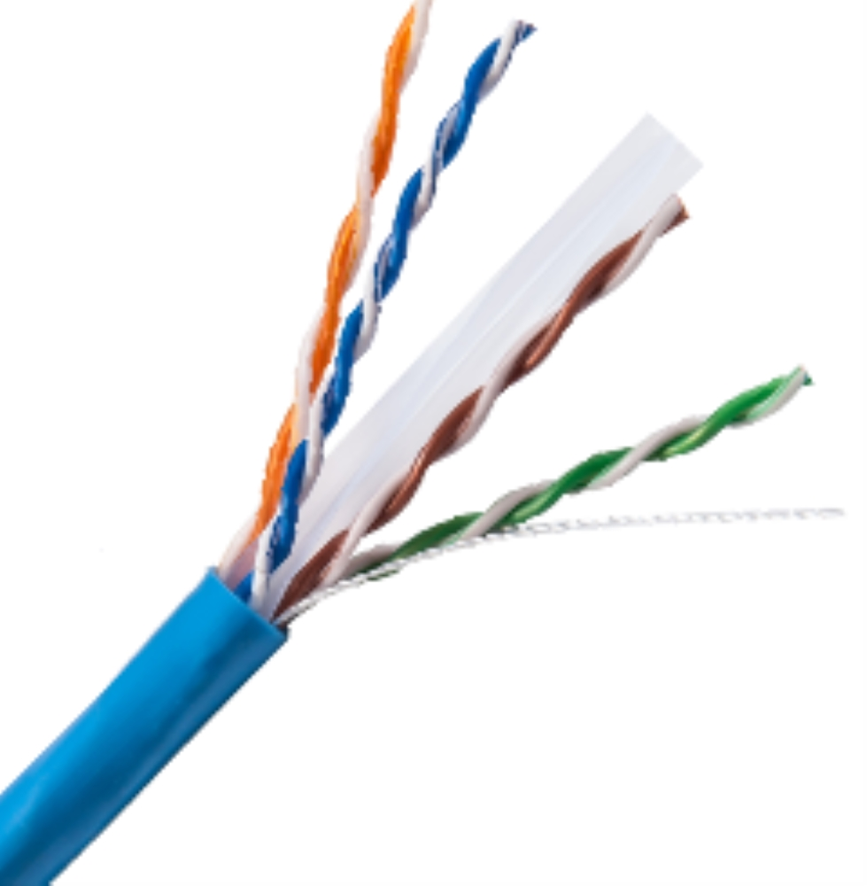photo of PSI Cat6e Cable White, CMR rated, 1000' box