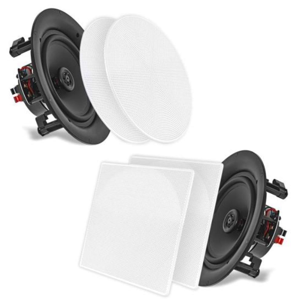 photo of Pyle, 6.5'' In-Wall / In-Ceiling Dual Stereo Speakers, 2-Way Flush Mount (200 Watt) (Pair)