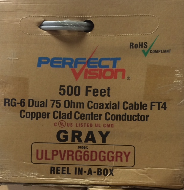 photo of RG6 Coaxial Cable Gray Dual