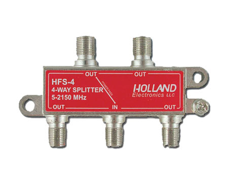 photo of HFS-4 4-Way Splitter One Port Pass