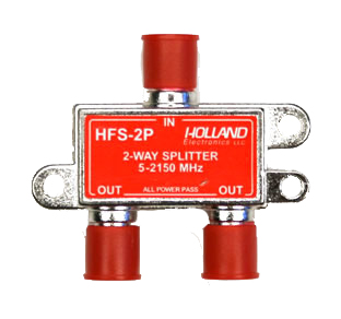 photo of HFS-2P 2-Way Splitter All Port Pass