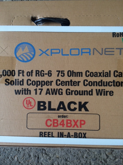photo of RG6 Coaxial Xplornet Black