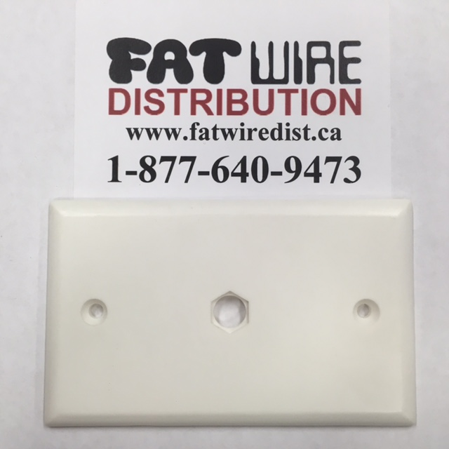 photo of Solid Wall Plate Single Round Hole