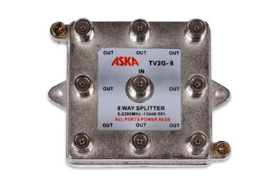 photo of ASKA-TV2G-8 8-Way Splitter All Port Pass