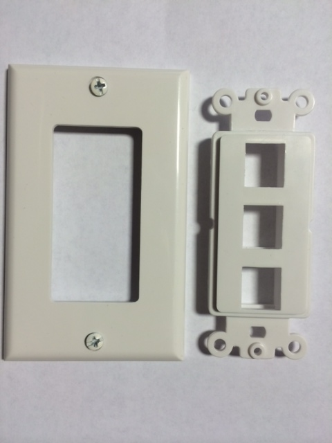 photo of Decora Wall Plate 3 Port