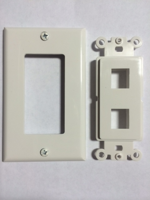 photo of Decora Wall Plate 2 Port