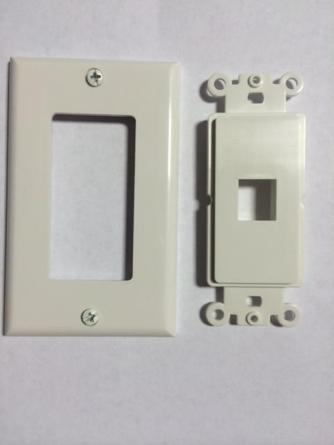 photo of Decora Wall Plate 1 Port