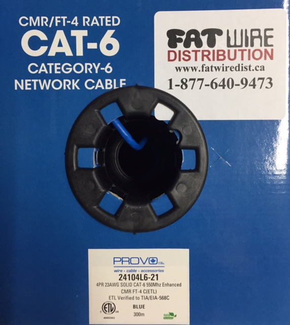 photo of Cat6 Provo FT-4 Cable Blue