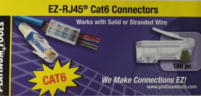 photo of CAT6 EZ Crimp Cat6 Connectors Pack100