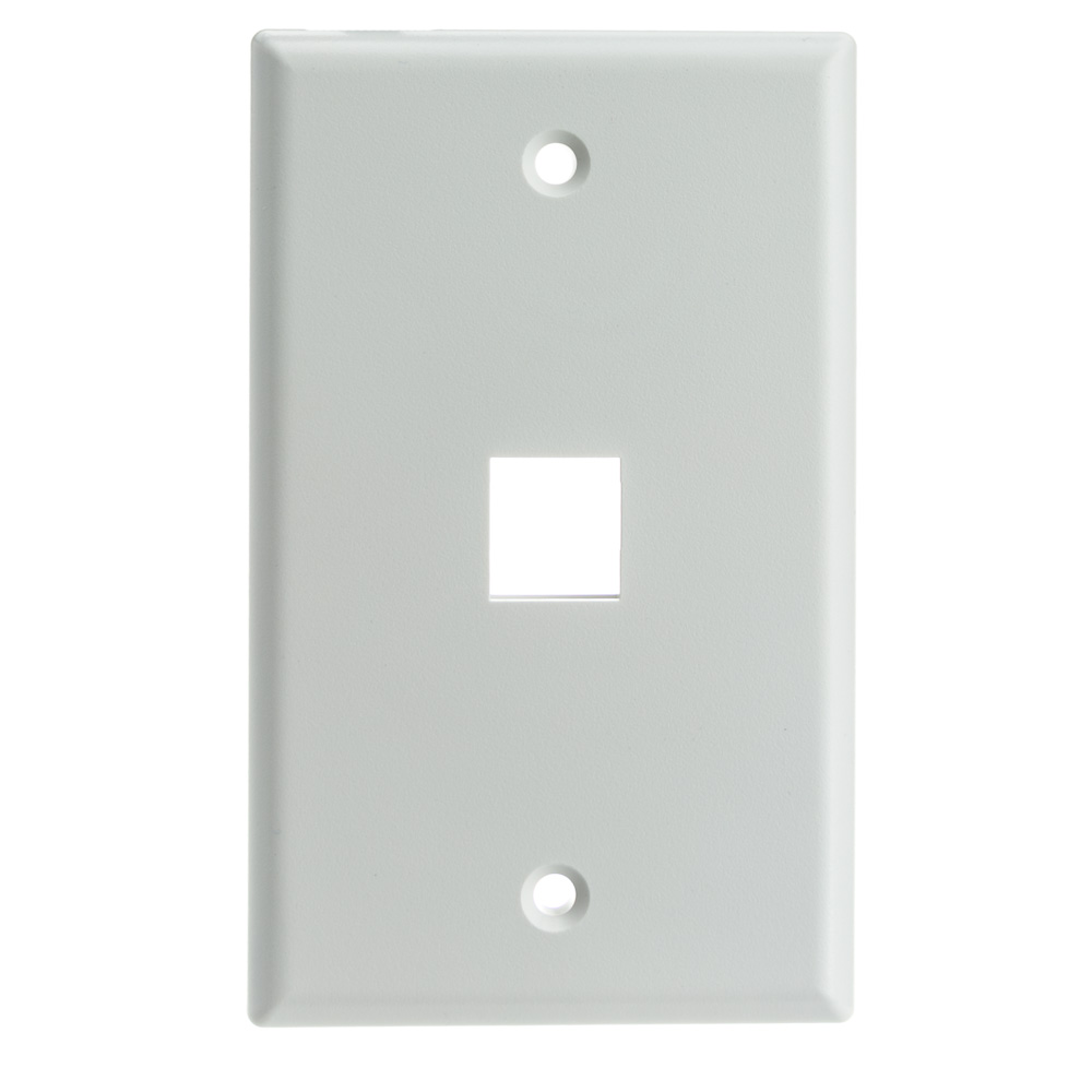 photo of PERFECT VISION SOLID 1 PORT WALL PLATE