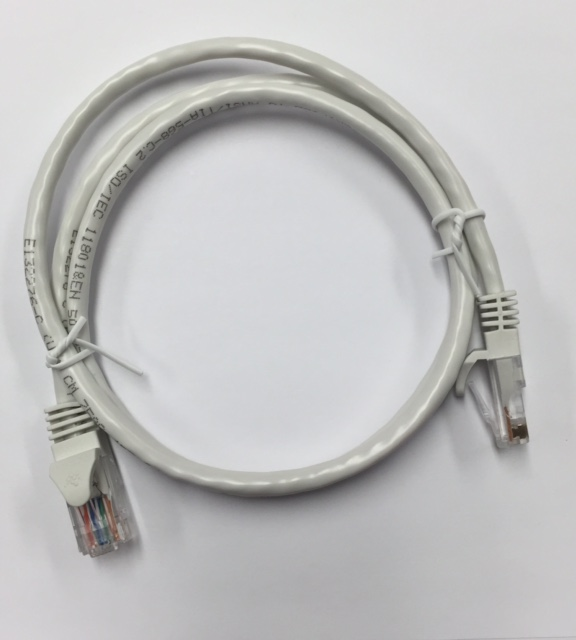 photo of White Cat5 Patch Cable 1ft